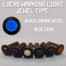 Warning Light Jewel - Blue Lens, Black Bezel 575396