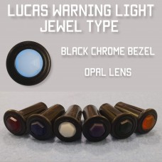Warning Light Jewel - Opal Lens, Black Bezel 579349